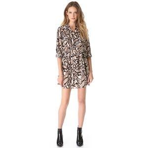 Diane von Furstenber DVF Prita Shirt Dress Leopard